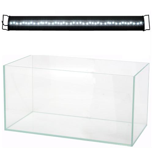 (大型)90cm水槽アクロ90S スーパークリア OVALブラック LED 900 BRIGHT セット 別途大型手数料・同梱不可・代引不可【HLS_DU】