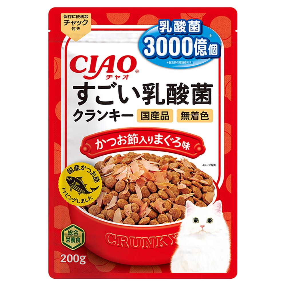 消費期限 2022 12 31 アウトレットセール 特集 CIAO すごい乳酸菌クランキー まぐろ味 日本製 かつお節入り 関東当日便 200g