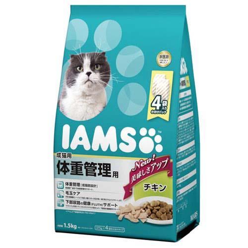 アイムス 成猫用 体重管理用 チキン 1.5kg 6袋入り 沖縄別途送料 関東当日便
