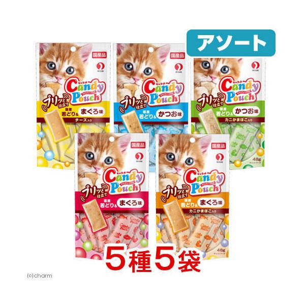 消費期限 2022/09/29  アソート キャネット キャンディーパウチ プリッと仕立て 48g 5種各1袋 猫 おやつ 関東当日便