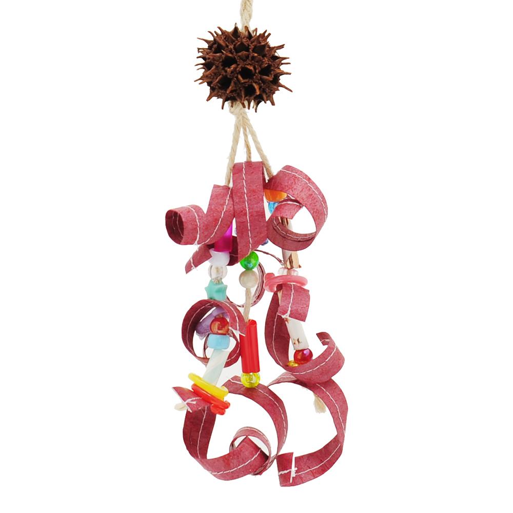 小鳥のおもちゃ フウの実鳥じゃらし ハンドメイド 色おまかせ バードトイ おもちゃ 関東当日便