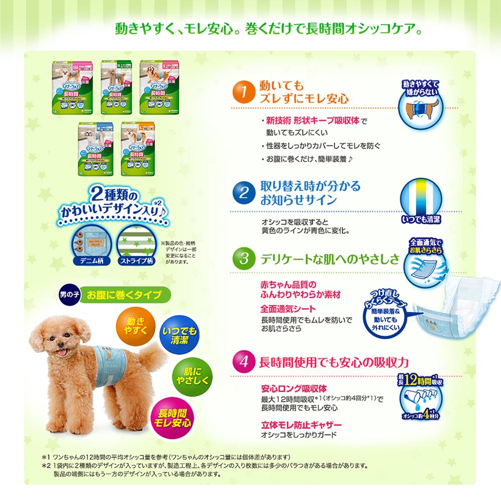 高齢犬おもらしケア用 男の子用おしっこオムツ Sサイズ 42枚 関東当日便