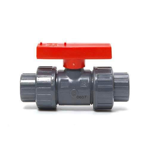Screw-type (both Union) ball valve (for PVC connection) 20A VP-666 Kanto day flights