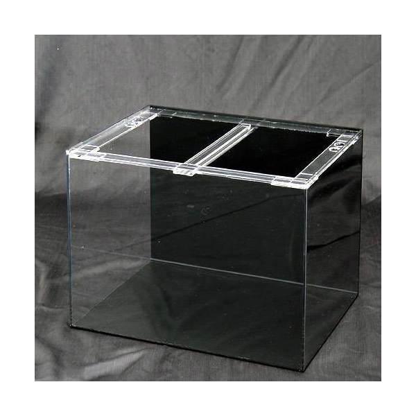 同梱不可・中型便手数料 アクリル水槽 アクリルクリアタンク 底面・背面板黒(60×45×45cm・板厚5×5×5mm) 60cm水槽 才数170