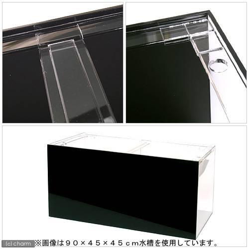 メーカー直送 (受注生産)アクリル水槽2面ブラック(底・背面)寸法120×60×60cm 板厚10×10×8mm 同梱不可 別途送料
