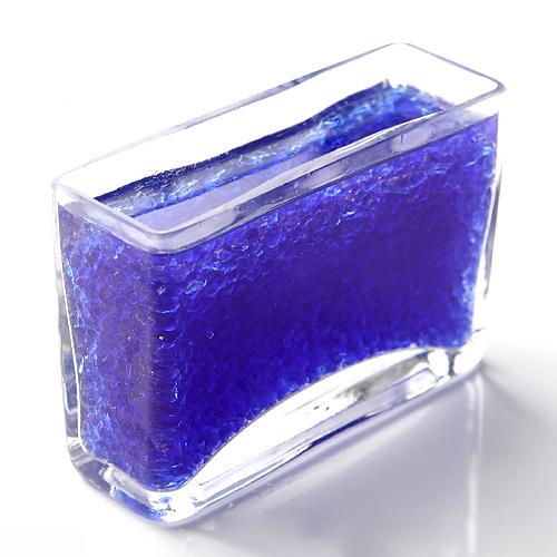 パッケージなし クリスタルストーン 瑠璃色 中粒M お徳用500cc 関東当日便