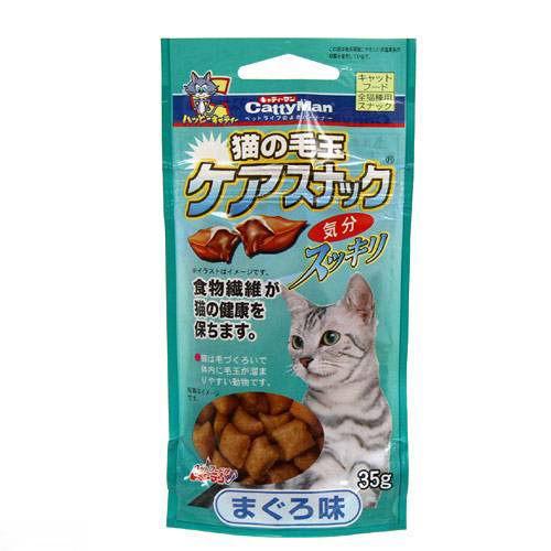キャティーマン 猫の毛玉ケアスナック まぐろ味 35g 猫 おやつ 毛玉ケア 猫の毛玉ケアスナック ドギーマン 関東当日便