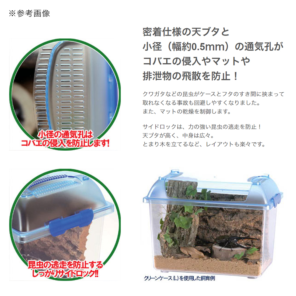 三晃商会 SANKO CLEAN CASE クリーンケース(L)(375×220×280mm) プラケース 虫かご 飼育容器 関東当日便