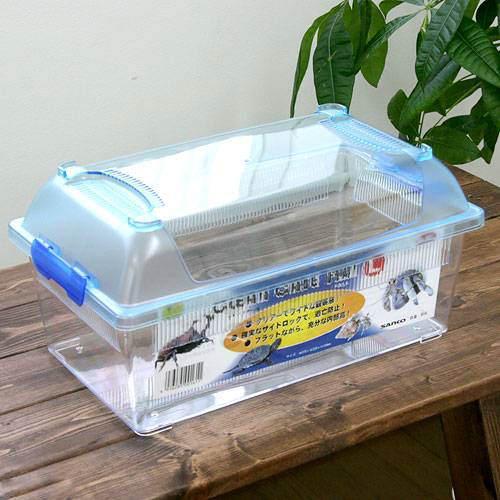 三晃商会 SANKO CLEAN CASE FLAT クリーンケースフラット プラケース L 虫かご飼育容器 375×220×184mm SALENEW大人気 関東当日便 送料無料お手入れ要らず