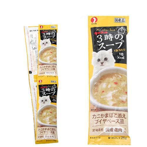 消費期限 2023 05 12 キャネット 3時のスープ かにかまぼこ添え ブイヤベース風 25g×4連 ☆最安値に挑戦 おやつ 関東当日便 猫 返品送料無料 100g