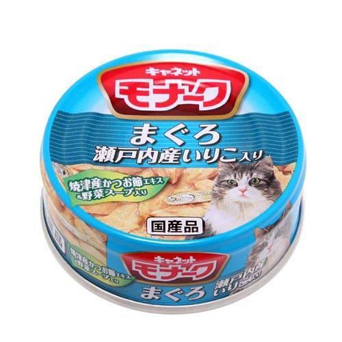 キャネット モナーク 缶 まぐろ・瀬戸内産いりこ入り 80g 48缶 関東当日便