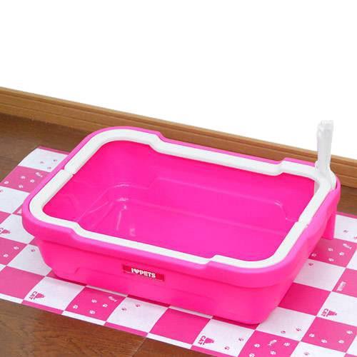 しつけるトイレC−M ローズピンク 猫トイレ 猫用トイレ お一人様3点限り 関東当日便