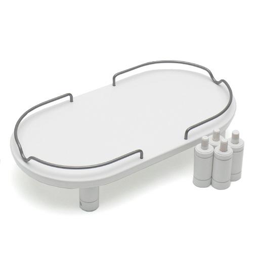 リッチェル ペット用 木製テーブル ダブル メーカー公式ショップ 大放出セール ホワイト 関東当日便 トレー 猫用食器台 犬用