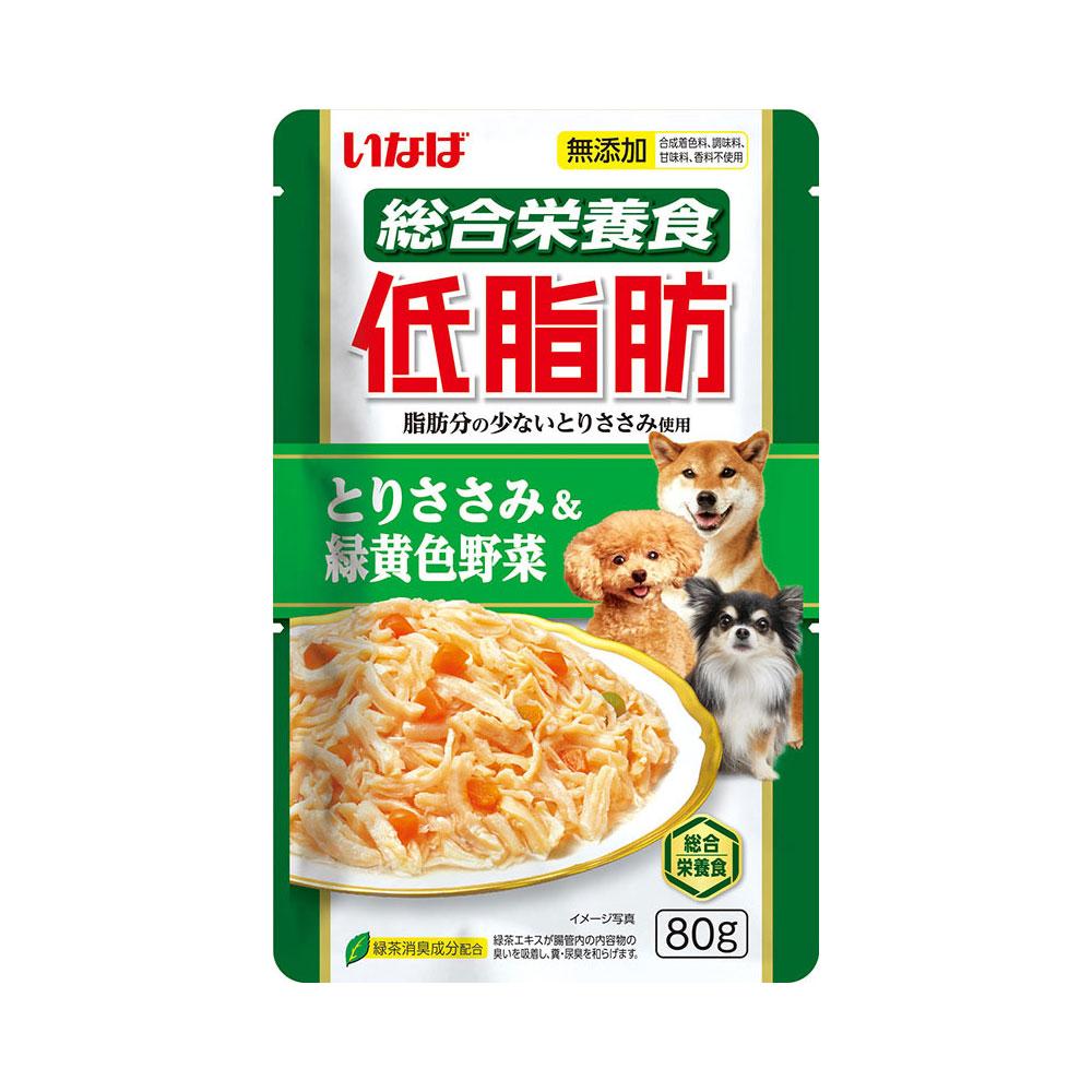 消費期限 2022 11 30 いなば 犬用 低脂肪 80g 贈物 格安店 パウチ 関東当日便 とりささみ ドッグフード 緑黄色野菜