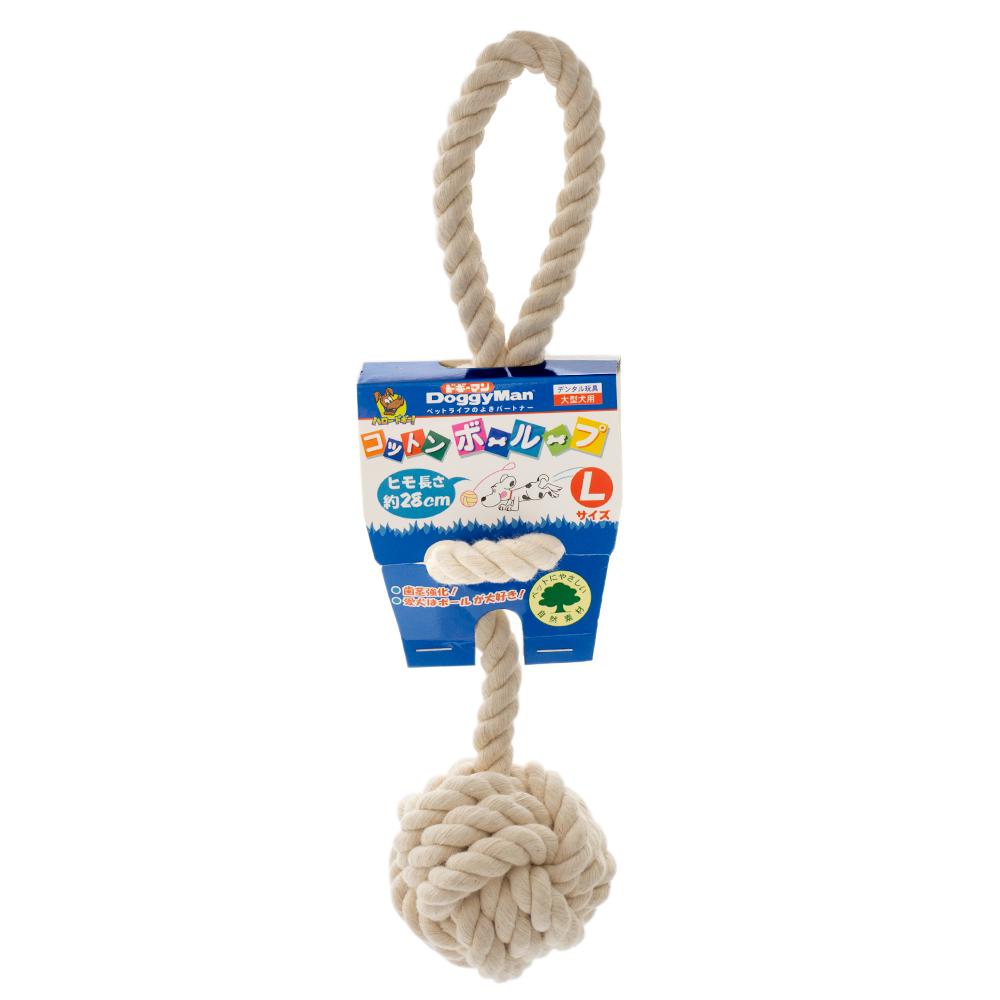 ドギーマン コットンボーループ L 犬 関東当日便 購買 大注目 犬用おもちゃ