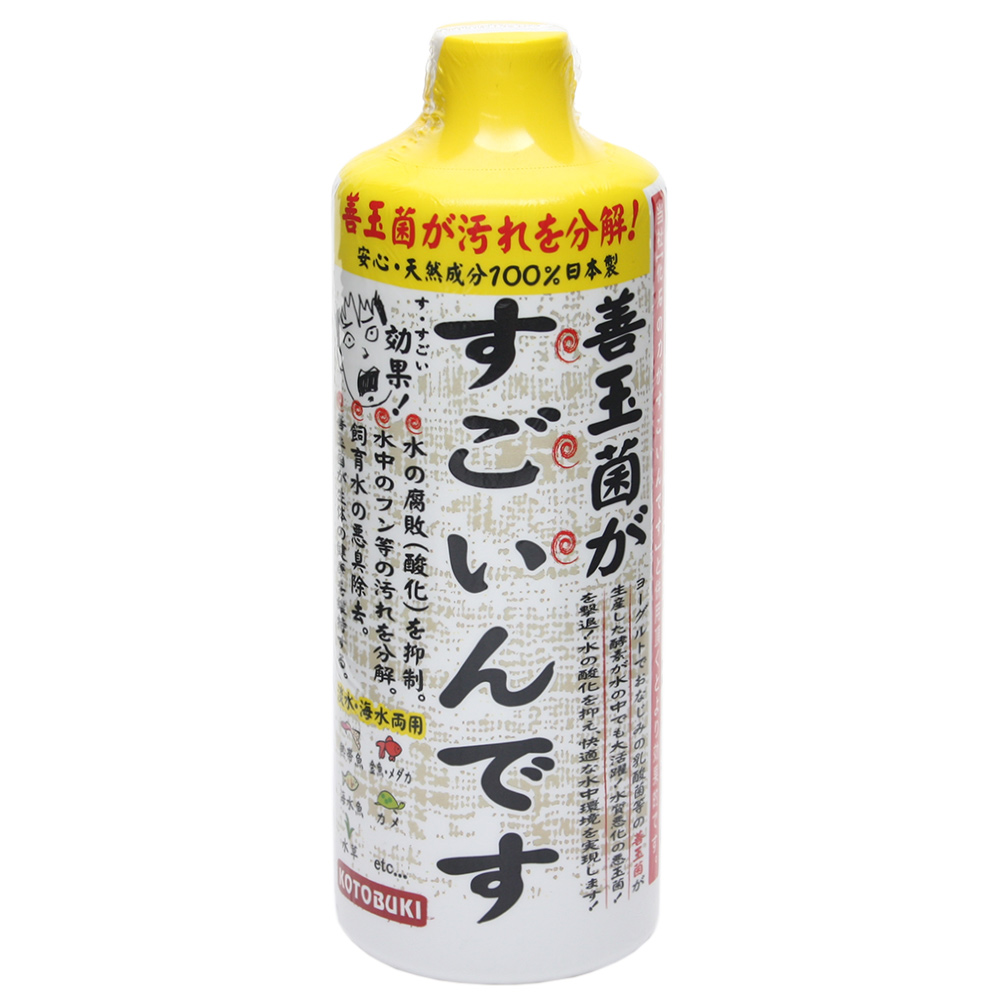 コトブキ工芸 kotobuki 善玉菌がすごいんです 500mL バクテリア HLS_DU 配送員設置送料無料 熱帯魚 観賞魚 関東当日便 まとめ買い特価