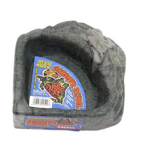 ZOOMED REPTI ROCK CORNER BOWL コーナーボール Sサイズ 爬虫類 餌 エサ入れ 水入れ 関東当日便