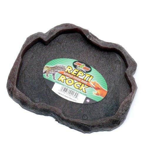 ZOOMED  レプティロック レプタイルフードディッシュ Mサイズ 爬虫類 餌 エサ入れ 色おまかせ 関東当日便