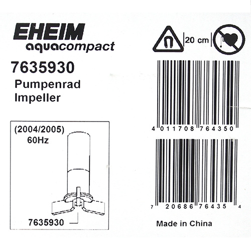 Eheim impeller Aqua compact 2004 / 2005 for Kanto day flights.