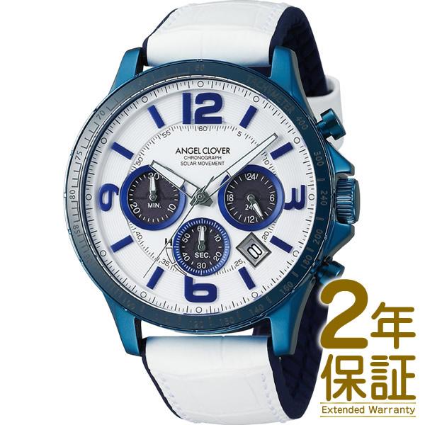Angel Clover エンジェル クローバー 腕時計 TCS44BNV-WH メンズ TIME CRAFT SOLAR タイムクラフトソーラー クロノグラフ ソーラー