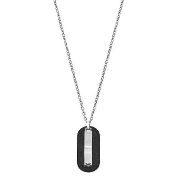【並行輸入品】EMPORIO ARMANI エンポリオアルマーニ EGS2538040 メンズ ネックレス ペンダント ブラック
