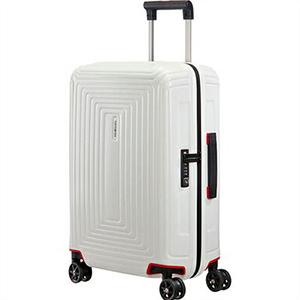 Samsonite サムソナイト スーツケース 65752 5406 55cm 38L Neopulse Spinner ネオパルス スピナー キャリーバッグ キャリーケース マットホワイト ライン