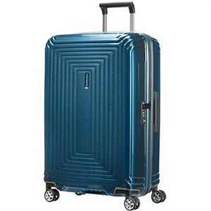 【ラッピング不可】Samsonite サムソナイト 65753 1541 69cm 74L スーツケース Neopulse Spinner ネオパルス スピナー キャリーバッグ キャリーケース メタリック ブルー ライン