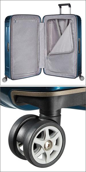 400144b517 ライン ブルー メタリック キャリーケース キャリーバッグ スピナー ネオパルス Spinner Neopulse 74L 69cm 1541  65753 スーツケース サムソナイト Samsonite-スーツ ...