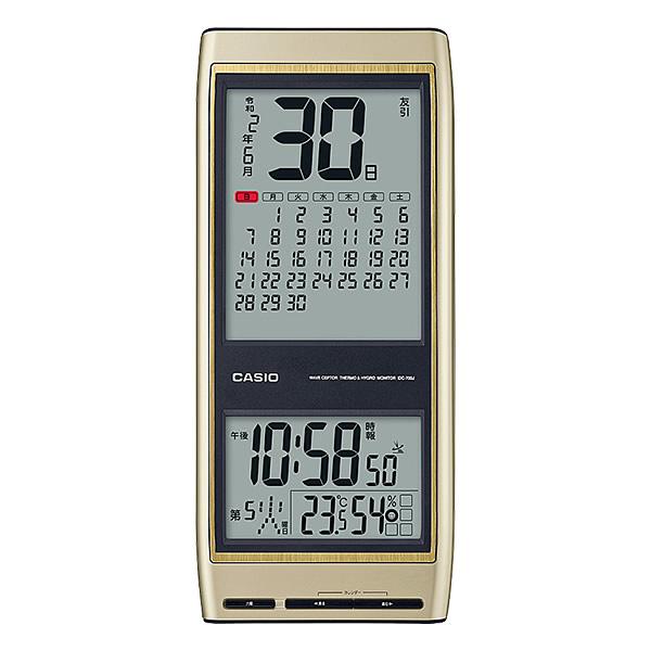 【正規品】CASIO カシオ クロック IDC-700J-9JF デジタル電波掛時計 温湿度計 令和表示対応