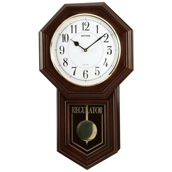 【正規品】RHYTHM リズム時計 クロック 120サイズ 4MJA03RH06 CITIZEN シチズン クオーツ柱時計 ベングラーR