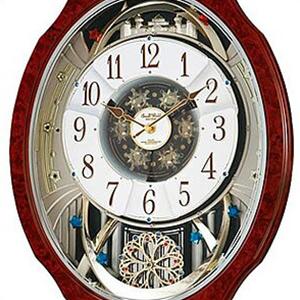 【正規品】リズム時計 クロック CITIZEN シチズン 4MN499RH23 掛時計 電波時計 スモールワールドブルームDX