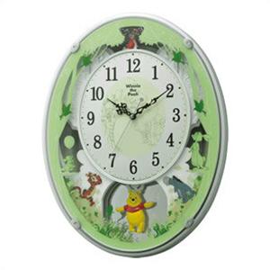 RHYTHM リズム時計 クロック 4MN523MC03 からくり掛時計 ディズニー