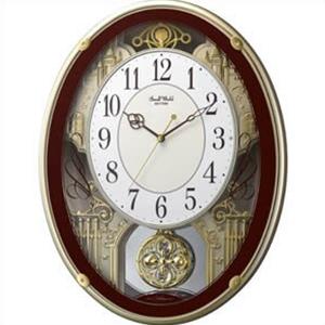 【正規品】リズム時計 クロック CITIZEN シチズン 4MN523RH06 掛時計 電波時計 スモールワールドプラウド