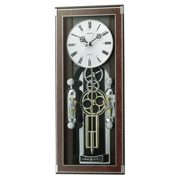 【正規品】RHYTHM リズム時計 クロック 120サイズ 4MN535SR23 CITIZEN シチズン 電波からくり置き時計 ソフィアーレプリモ