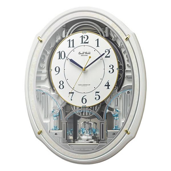 【正規品】RHYTHM リズム時計 クロック CITIZEN シチズン 4MN553RH03 電波掛時計 からくり時計 スモールワールドアルディN