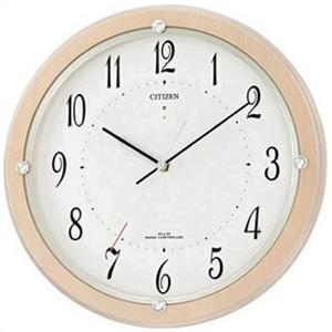 【正規品】リズム時計 クロック CITIZEN シチズン 4MY798-007 掛時計 電波時計 サイレントソーラーM798