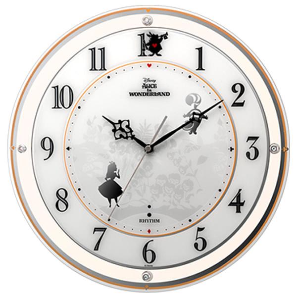 【正規品】RHYTHM リズム時計 クロック 4MY854MC14 CITIZEN シチズン 電波掛時計 掛時計854/アリス ディズニー