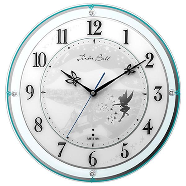 【正規品】RHYTHM リズム時計 クロック 4MY854MT05 CITIZEN シチズン 電波掛時計 掛時計854/ティンカー・ベル ディズニー