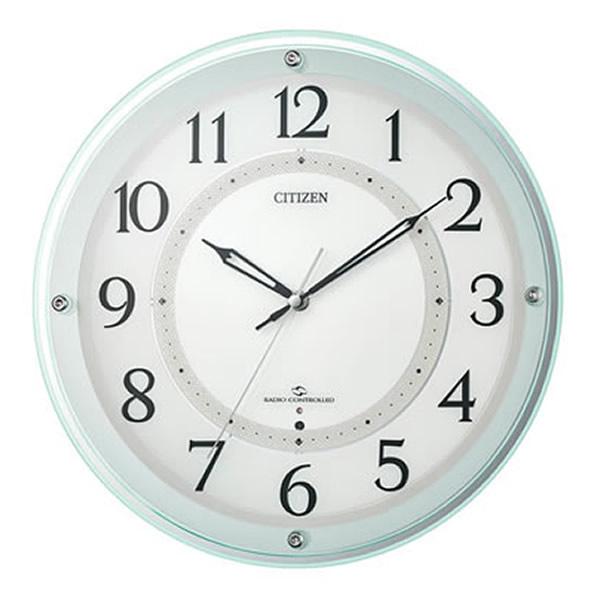 【正規品】RHYTHM リズム時計 クロック CITIZEN シチズン 4MY859-005 電波掛時計