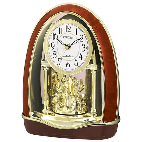 【正規品】RHYTHM リズム時計 クロック 80サイズ 4RN414 023 CITIZEN シチズン 電波置き時計 パルドリームR414-2
