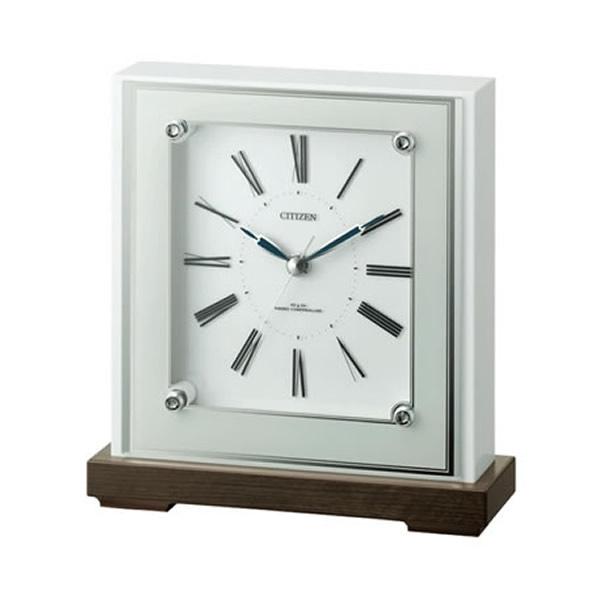 【正規品】リズム時計 クロック CITIZEN シチズン 4RY706-003 置き時計 電波時計 マリアージュ706