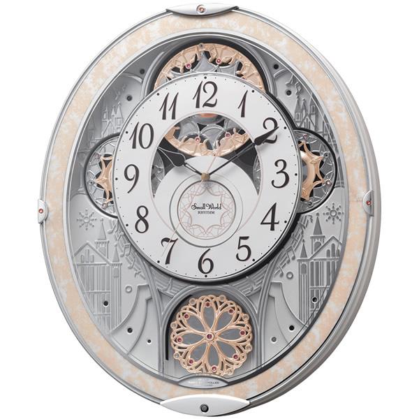 【正規品】RHYTHM リズム時計 クロック 120サイズ 8MN407RH03 CITIZEN シチズン 掛け時計 スモールワールドノエルNS