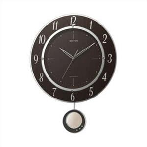 リズム時計 8MX403SR23 電波 振り子 掛時計 トライメテオDX