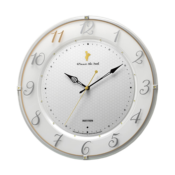 【正規品】RHYTHM リズム時計 クロック 8MY542MC03 CITIZEN シチズン 電波掛時計 くまのプーさん ディズニー