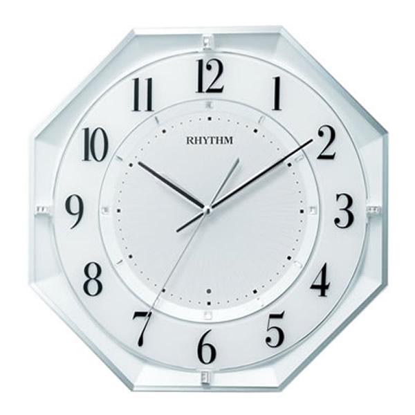 【正規品】RHYTHM リズム時計 クロック CITIZEN シチズン 8MY552SR03 電波掛時計 フィットウェーブクールM552