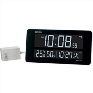 【正規品】SEIKO セイコー クロック DL208W 掛置兼用時計 電波 デジタル