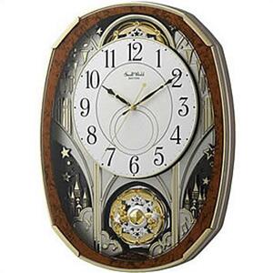 【正規品】リズム時計 クロック CITIZEN シチズン 4MN513RH23 掛時計 電波時計 スモールワールドノエルM