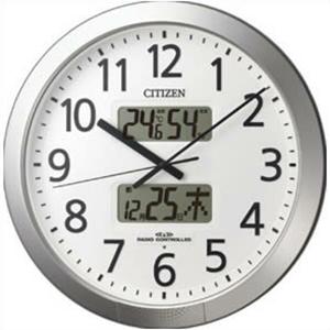リズム時計 4FN404SR19 電波 掛時計 プログラムカレンダー404SR