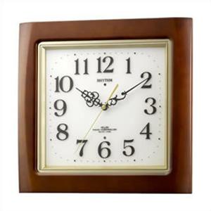 リズム時計 4MN468RH06 電波 掛時計 ネムリーナM468R