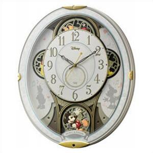 【正規品】リズム時計 クロック CITIZEN シチズン 4MN509MC03 掛時計 電波時計 キャラクター時計